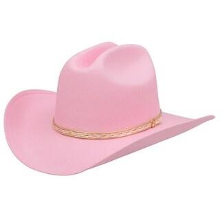 Alamo Cowboy Hat Girls Kids Little Misses Cattleman Canvas Pink 21001