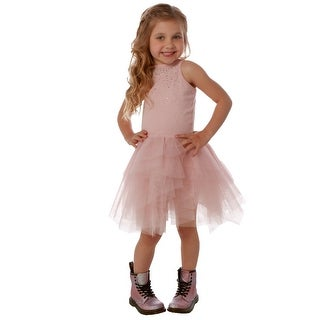 Ooh! La La! Couture Little Girls Pink Rhinestone Carrie Tutu Dress