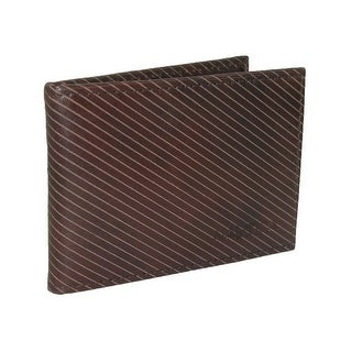 Nautica Men's Leather Striped Front Pocket Wallet - One Size