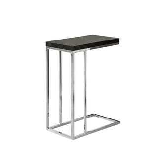 Monarch Specialties Laptop accent table II Laptop Side Table with Tempered Glass Surface