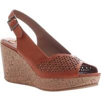 Madeline Women's Doting Wedge Slingback Sandal Orange Synthetic