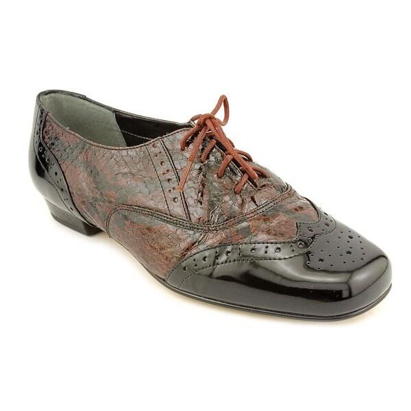 Mark Lemp By Walking Cradles Jake Women 4A Wingtip Toe Leather Black Oxford