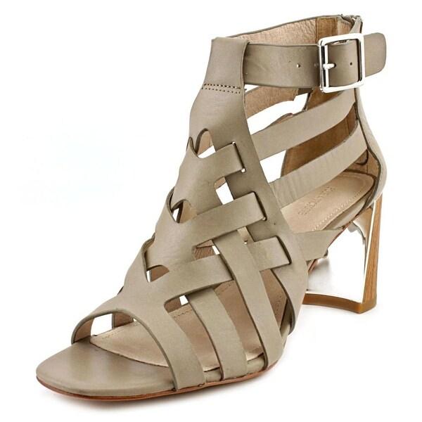 Pour La Victoire Pandora Women Open Toe Leather Gray Sandals