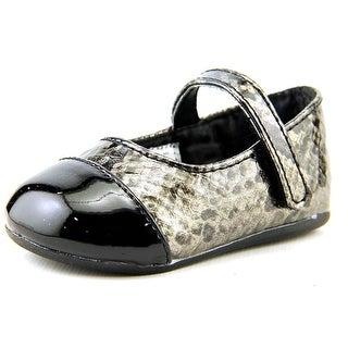 Natural Steps Fierce Infant Round Toe Synthetic Black Flats