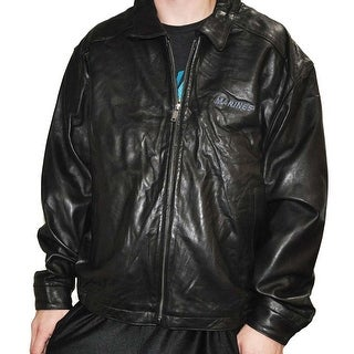 Weatherproof Mens Black Leather Marines Stretch Bottom XL Jacket