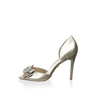 Betsey Johnson Womens Glam Open Toe D-orsay Pumps