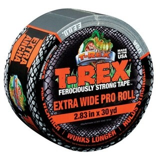 T-Rex 241358 Polyethylene Coated Cloth Duct Tape, 30 yard, Gray