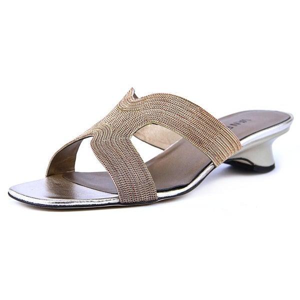 Vaneli Beyla Women N/S Open Toe Synthetic Bronze Slides Sandal