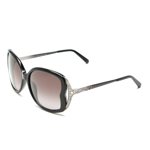 John Galliano Women's Oversized Frame Sunglasses Black/Silver - Clear - Small