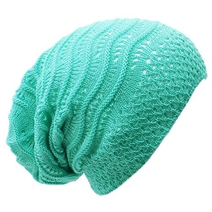 Wave Crochet Lightweight Beanie Hat