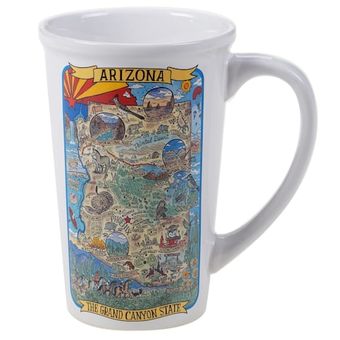 Certified International Arizona Souvenir 22 oz. Jumbo Mugs (Set of 6)