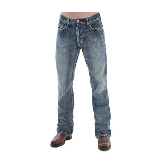 B. Tuff Western Jeans Mens Steel Bootcut Relaxed Medium Wash MSTEEL