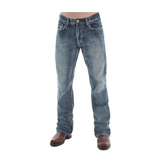 B. Tuff Western Denim Jeans Mens Steel Bootcut Relaxed Med Wash