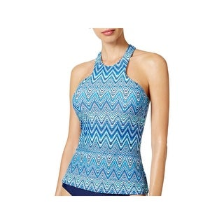 Island Escape Womens Saint Martin Printed High Neck Swim Top Separates (4 options available)