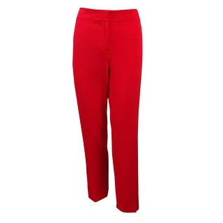 Kasper Women's 'Kristy' Slim Fit Crepe Dress Pants - Poppy Red - 6P
