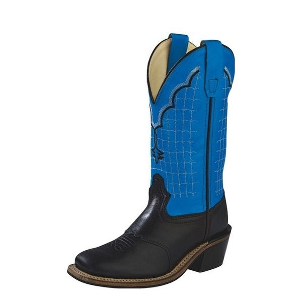 2804dff121d Old West Cowboy Boots Boys Girls Kids Goodyear Black Blue