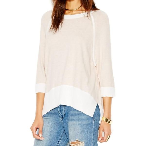 Rachel Rachel Roy Womens Crop Sweater Pullover High-Low