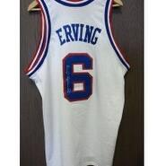 Signed Erving Julius Philadelphia 76ers Replica Philadelphia 76ers Jersey No Size or Tags on the Je