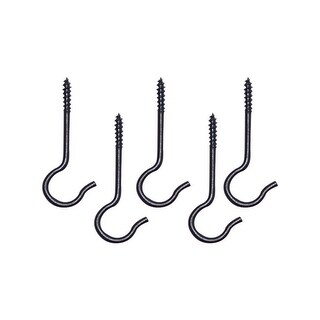Panacea 86201 Swag Hooks, Black, Pack/5