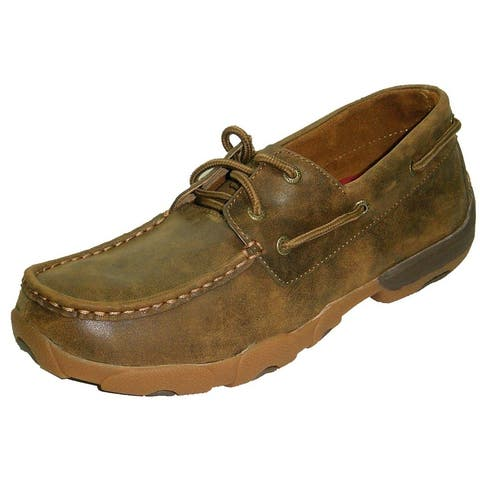 Twisted X Casual Shoes Mens Casual Driving Moc Bomber Brown
