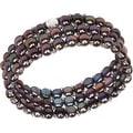 D'AMA Women's Pearl Bracelet - Easy-On Stretch Triple Strand cultured Pearl Bracelet - Thumbnail 10