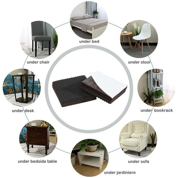 40Pcs Adjustable Screw On Type Furniture Glide Leveling Feet 8 x 15 x 40mm