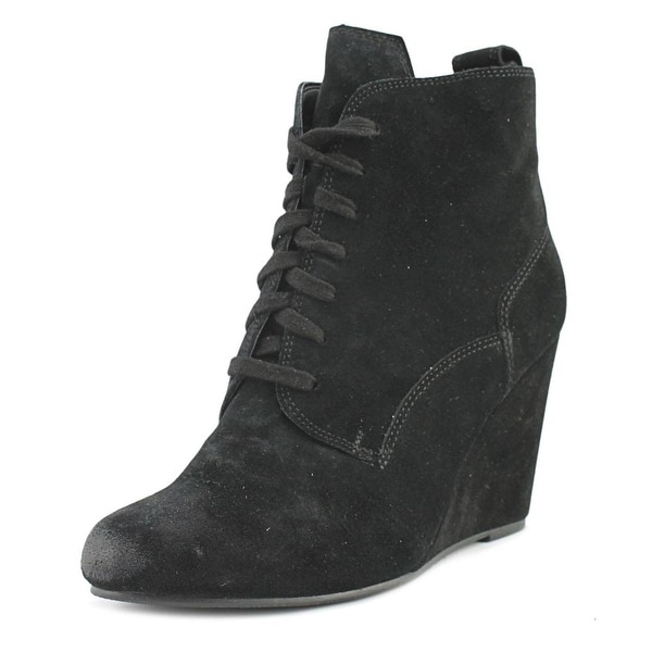 Dolce Vita Grady Women Round Toe Suede Black Ankle Boot