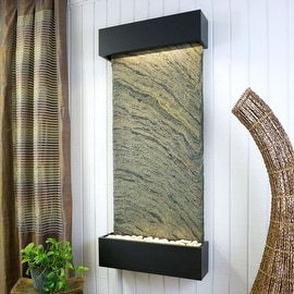 Bluworld WWLVCJ-BL Nojoqui Falls Classic Quarry Wall Fountain - Jeera Slate a...
