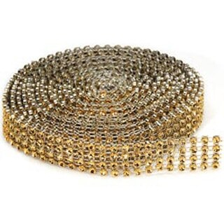 4 Rows; Gold - Bling On A Roll 3Mmx3yd