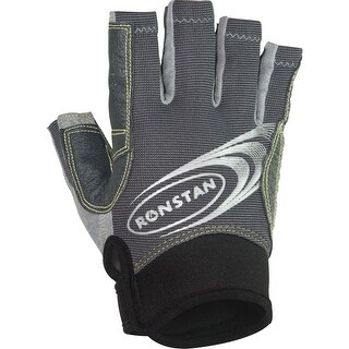 Ronstan Sticky Race Gloves w/Cut Fingers - Grey - Large
