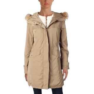 Link to Ellen Tracy Women's Water Resistant Faux Fur Trim Hooded Parka Coat Similar Items in Women's Outerwear