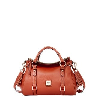 Dooney & Bourke All Weather Leather Small Satchel (Introduced by Dooney & Bourke at $368 in May 2017) - Burnt Orange