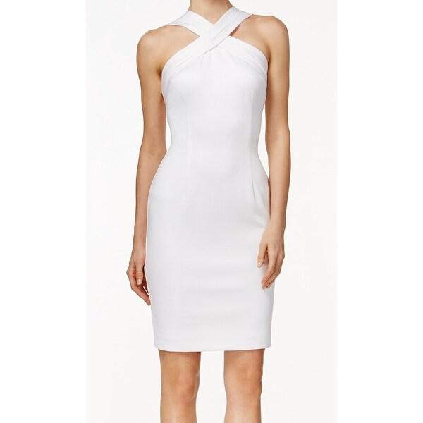 Shop Calvin Klein New White Women S Size 6 Sheath Scuba