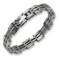 Chisel Polished Stainless Steel Bracelet