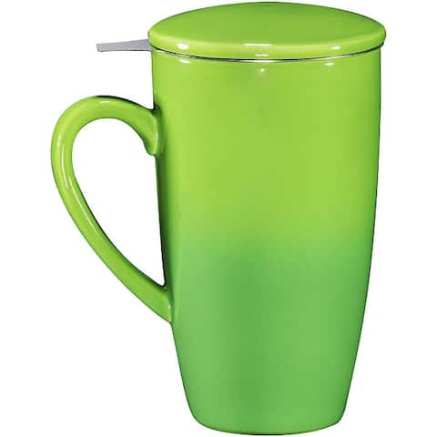 16oz Ceramic Tea Mug with Stainless Steel Infuser