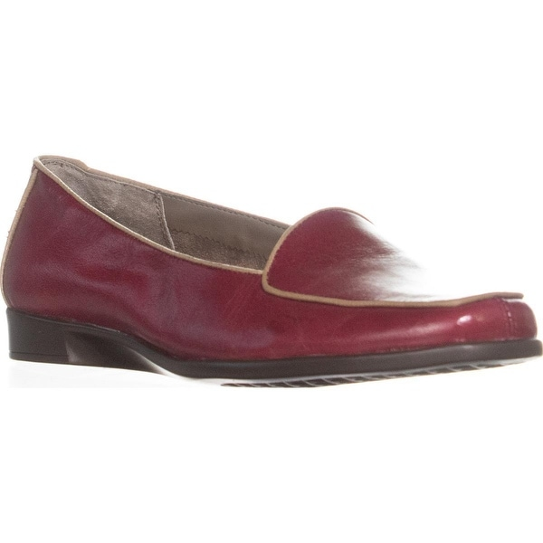 0c7eb80a6d Shop Aerosoles Survival Wedge Dress Loafers, Dark Red Combo - 8.5 us ...