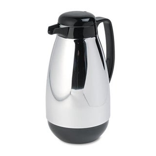 Hormel Corp Vacuum Glass Lined Chrome-Plated Carafe, 1L