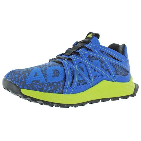 Adidas Boys Vigor Bounce J Running Shoes Athletic Performance - Blue/Grey/Semi Solar Yellow