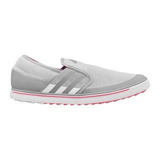 Adidas Women's Adicross SL Clear Onix/White/Flash Red Golf ShoesQ46733