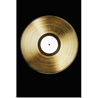 """""""A gold record on a black background"""" Poster Print"""