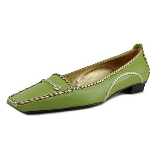 Roger Vivier Ines T.25 Women Moc Toe Leather Green Loafer