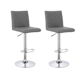 Link to Best Master Furniture Quilted Faux Leather Adjustable Swivel Bar Stool (Set of 2) Similar Items in As Is