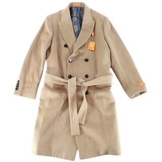 Tallia Orange NEW Solid Beige Mens Size Medium M Belted Trench Coat