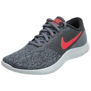 Women's Nike Flex Contact Running Shoe Cool Grey/ Solar Red-Anthracite - cool grey solar red anthracite