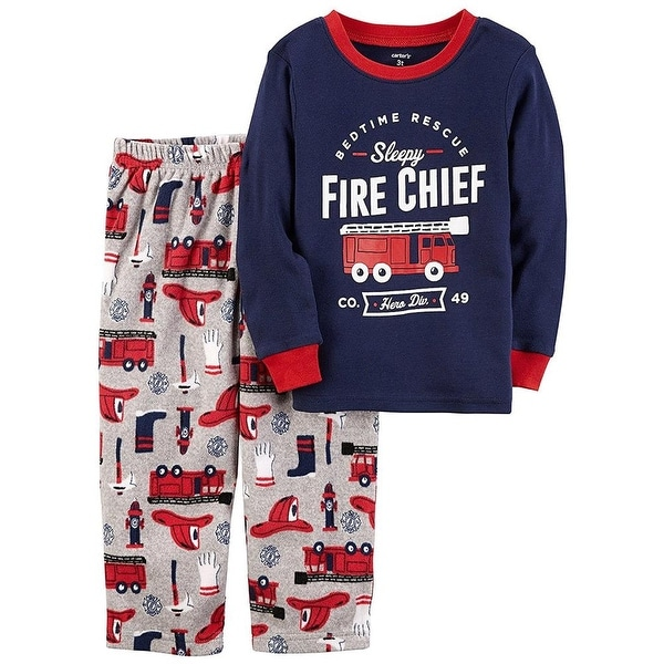 Carters Boys 12-24 Months Firetruck Cotton Set - Blue