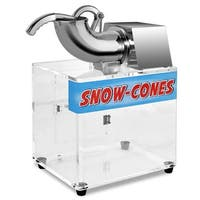 Costway Electric Snow Cone Machine Ice Shaver Maker Shaving Crusher Dual Blades - White