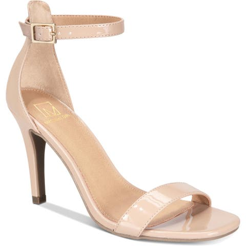 Material Girl Womens Blaire Dress Heels Patent Stiletto - Nude
