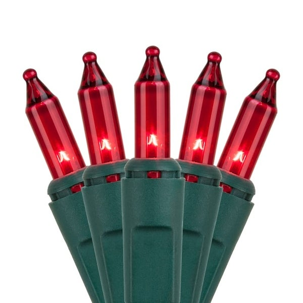 """Wintergreen Lighting 15197 25.5' Long Indoor Standard 50 Mini Light Holiday Light Strand with 6"""" Spacing and Green Wire"""