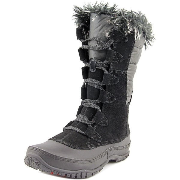 The North Face Nuptse Purna Women Round Toe Suede Black Winter Boot