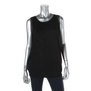 Eileen Fisher Womens Metallic Oversized Pullover Sweater - M